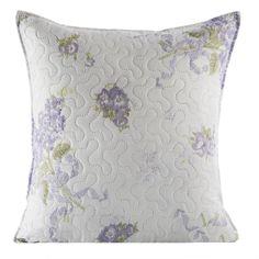 Ozdobna biała poszewka na poduszkę z kwiatami