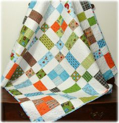 Scrappy Scatter Patch Baby Quilt