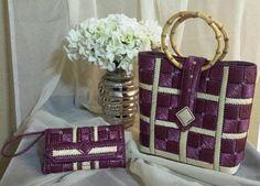 Helena Sassy Unique Handbags & Wristlets - Princess Cut and Grids Design