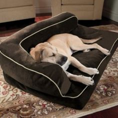 Doctors Foster & Smith Luxury Chaise Rectangular Pet Bed - 50'' x 35''