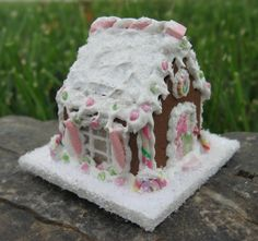 Miniature Gingerbread House 112th Scale by TheSweetBaker on Etsy, $35.00