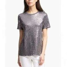 Looking for DKNY Womens Sequined Crew Neck T-Shirt Gray M ? Check out our picks for the DKNY Womens Sequined Crew Neck T-Shirt Gray M from the popular stores - all in one. Macy Gray, Silver Shorts, Denim Pencil Skirt, Sequin Tank Tops, Tommy Hilfiger Women, Donna Karan, Neck T Shirt, Crew Neck, Sequins