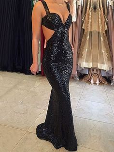 Prom Dresses Elegant, 2020 Sexy Mermaid Black Sweetheart Sequence Backless Prom Dress, Mermaid prom dresses, two piece prom gowns, sequin prom dresses & you name it - our 2020 prom collection has everything you need! Open Back Prom Dresses, Unique Prom Dresses, Backless Prom Dresses, Popular Dresses, Prom Dresses Online, Mermaid Prom Dresses, Prom Party Dresses, Evening Dresses, Bridesmaid Dresses
