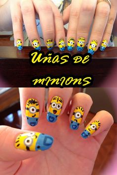 "¡Uñas de minions ♥! De la película ""Mi villano favorito"""