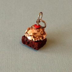 Brownie Sundae Necklace. Polymer Clay Food Jewelry. $11 #ThePolyShop