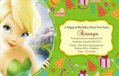 Free tinkerbell birthday invitation templates birthdays find this pin and more on lianie party tinkerbell by sonja linde filmwisefo