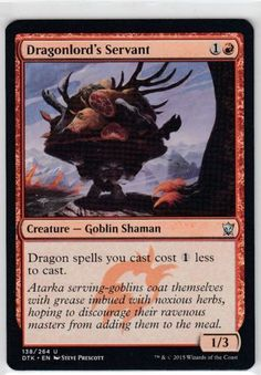Dragonlord's Servant Foil Dtk NearMint mtg Magic the Gathering Dragons of Tarkir #WizardsoftheCoast