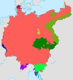 Greater Germany Ethnic Map 1921