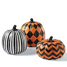 Even though these are Designer Pumpkins, it's a great inspiration for a DYI.