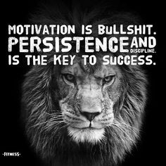 Motivation no doubt gets you going. But what you do after the motivation has been lost is what really counts.