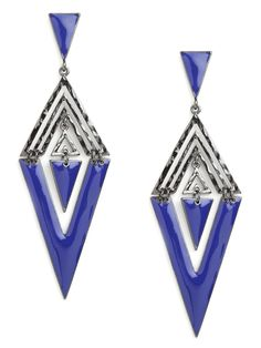 Blue Triangle Drops