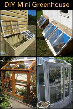 Get inspired ideas for your greenhouse. Build a cold-frame greenhouse. A cold-frame greenhouse is small but effective. Diy Small Greenhouse, Dome Greenhouse, Greenhouse Plans, Greenhouse Gardening, Greenhouse Growing, Homemade Greenhouse, Outdoor Greenhouse, Cheap Greenhouse, Greenhouse Wedding