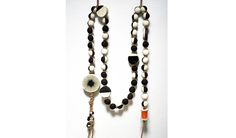 Black & White Garland- Stoneware, Hemp