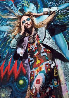 Gorgeous Graffiti Garments - This Mario Sorrenti September 2011 W Mag Shoot is a Multicolored Mosaic (GALLERY)