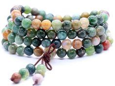 Indian Agate Mala Bracelet/Necklace (108 Beads)