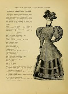 What We Did When The Power Went Out (Sewing In Walden): Double-breasted jacket (1897)