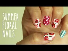 Arty Floral Nails by bubzbeauty- Love how well she explains everything. . Bubz makes doing this look easy. Check her Youtube channel out for more great nail and beauty related videos.
