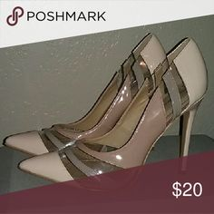 New never worn shoe Republic la patent nude pumps Nude Patent and clear 4 inch heels/pumps, new (no box). Never worn. Shoe Republic LA  Shoes Heels