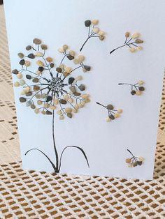 Handmade Birthday Card Dandelion Flower Greeting Card
