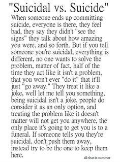 suicidal vs suicide