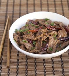 Spicy Hunan Beef with Cumin - my husband would like this
