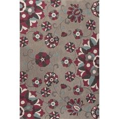 JaipurLiving Blossom Hand-Tufted Gray/Purple Area Rug Rug Size: 5' x 7'6""
