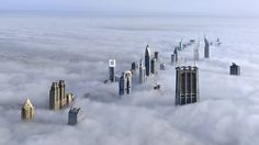 Dubai Covered In Clouds..unreal.