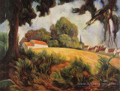 Country village (village pres du champ) 1919 - Diego Rivera - oil ...