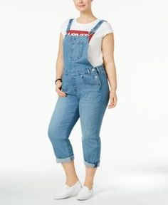 Levi's Plus Size Straight-Leg Overalls - Blue 42 (US 22) R