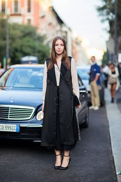 long black. #JosephineAune in Milan.