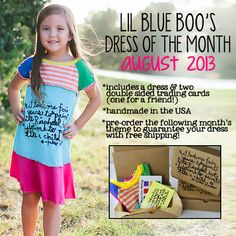 The Lil Blue Boo August 2013 Dress of the Month Box via lilblueboo.com