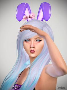 Sims 4 CC's - The Best: Accessory Bunny Ears Bow by Jennisims