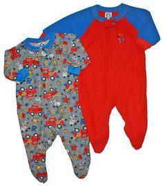 Gerber 2 Pack Infant Toddler Boys Blanket Sleeper - Firetruck