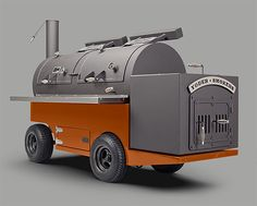The Frontiersman Competition Smoker  This is the G-Wagen of smokers. The Frontiersman Competition Smoker from Yoder is a 1.5-ton, tow-behind mobile unit with over 2000 sq. inches of cooking surface. Basically, yeah, Brontosaurus burgers for the whole crowd.
