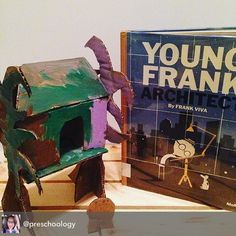 Got some great inspiration for our latest project from @frankviva 's storybook Young Frank Architect. I had the idea to build a skyscraper out of cardboard, but my 4-yr-old was more interested in a treehouse. So I followed her lead and this is what turned out... Love this kid's imagination! @themuseumofmodernart #youngfrank #architecture #architect #inspiration #design #kidscraft #kidsactivity #kidsbooks