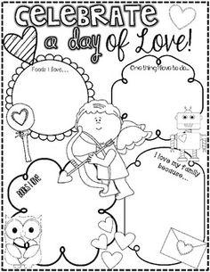 Raining Hearts {A Valentine's Day Literacy Unit for Little Learners} based on the book The Day it Rained Hearts