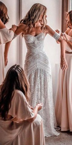 Ivory Lace Strapless Boho Beach Wedding Dresses, – The Best Ideas Bridal Wedding Dresses, Dream Wedding Dresses, Boho Beach Wedding Dress, Wedding Venues, Wedding Ideas, Boho Beach Style, Bohemian Wedding Gowns, Strapless Wedding Dresses, Rustic Wedding