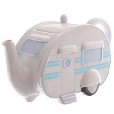 Novelty Ceramic Caravan Teapot | eBay