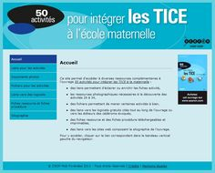 Les TICE en maternelle. Document, Toulouse, Apps, Internet, Nursery School, Classroom, Fle, Index Cards, Computer Science