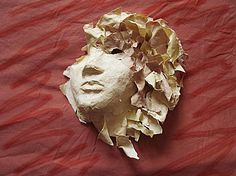 Sculpture Paper Mache 3/4 Mask by margewickliffe on Etsy, $65.00