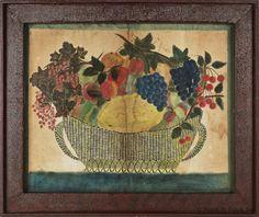 Theorem Painting, American Oil on Velvet 19th century