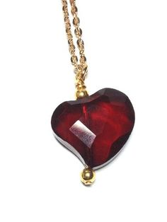 Sorcerers Stone Heart Necklace by MidnightHouseElves on Etsy, $20.00