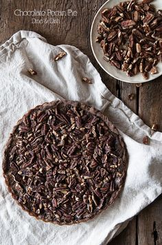 Don't Forget The Chocolate {Recipe: Double Chocolate Pecan Pie} - dineanddish.net
