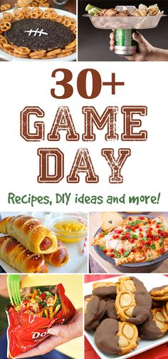 30+ Game Day Ideas - Pretty My Party #football #party #ideas