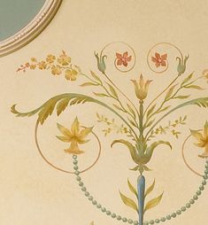Wall stencil Marie-Antoinette Side Panel SM amazing detail