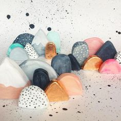 Love these! Mini clay mountainscapes created by Australian artist + designer, #laurablythman