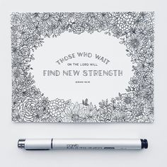 """""""Those who wait on the LORD will find new strength."""" Isaiah 40:31 . Hey! This artwork will be released early next week as a FREE Coloring Page (along with a few others). If all goes as planned it will be next Tuesday (Feb 28). We are excited to share them with you! Can't wait to see the creative ways you use them and color them"""