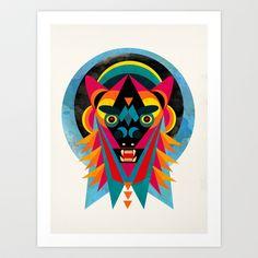 Bestia+Art+Print+by+Alvaro+Tapia+Hidalgo+-+%2420.00