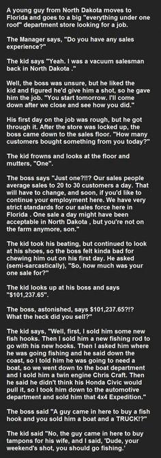 Salesman joke - excellent punch line