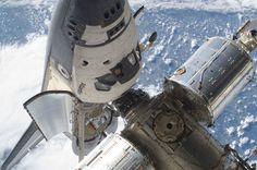 The Space Shuttle Atlantis docked with the ISS, May 17, 2010. (NASA)